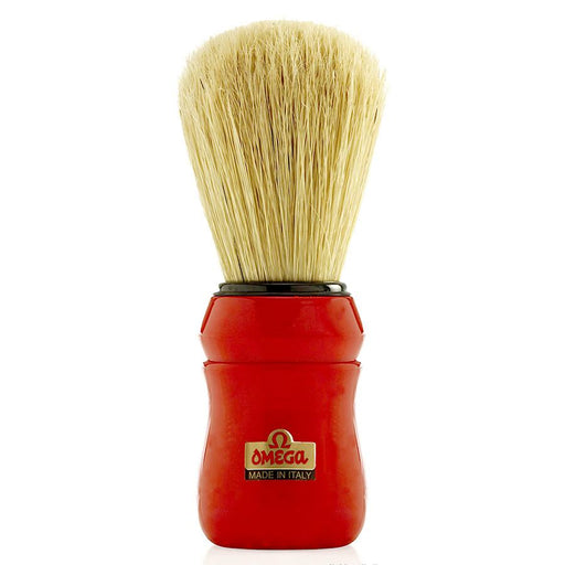 Omega 49 Professional Boar Bristle Shaving Brush, Red Handle - Fendrihan Canada