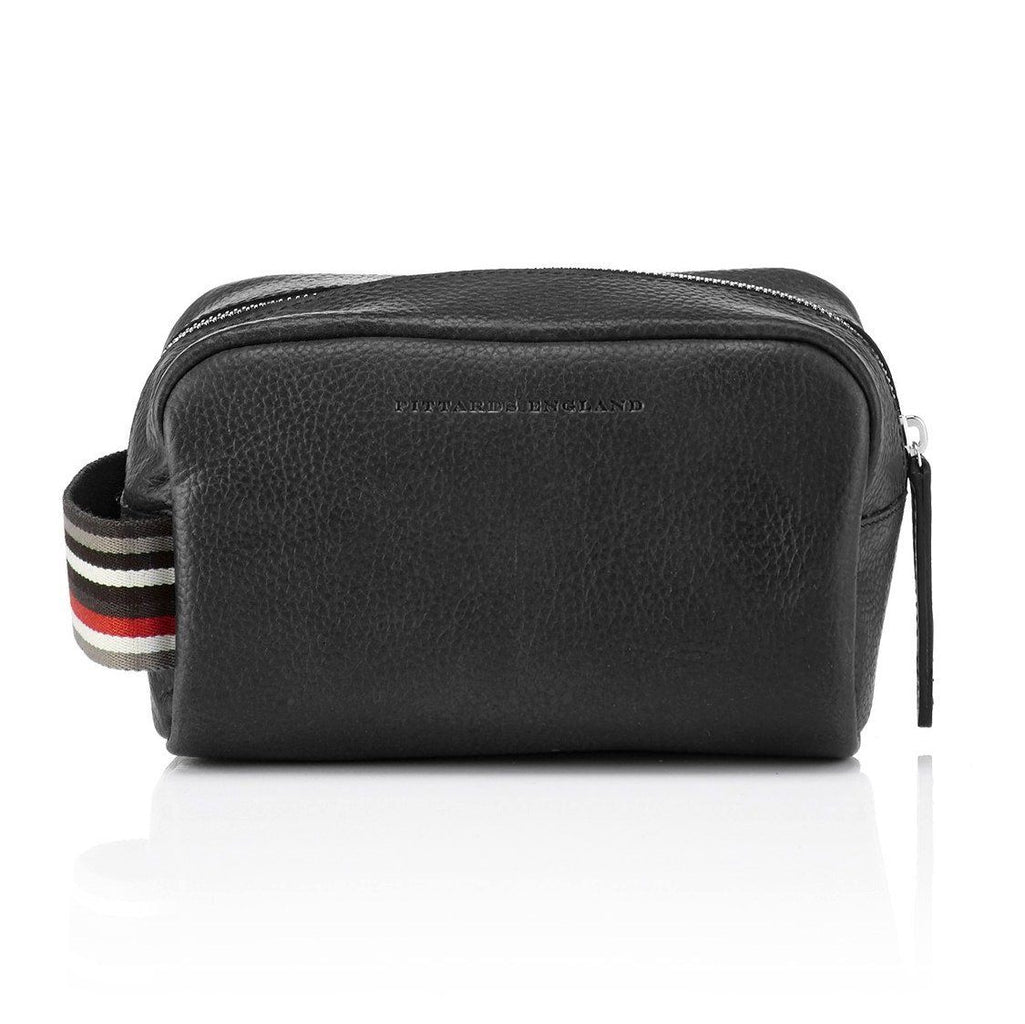 Pittards Small Dopp Kit, Attacama Black Grooming Travel Case Pittards