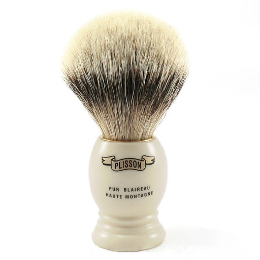 Plisson High Mountain White Badger Shaving Brush, Size 12 - Fendrihan Canada