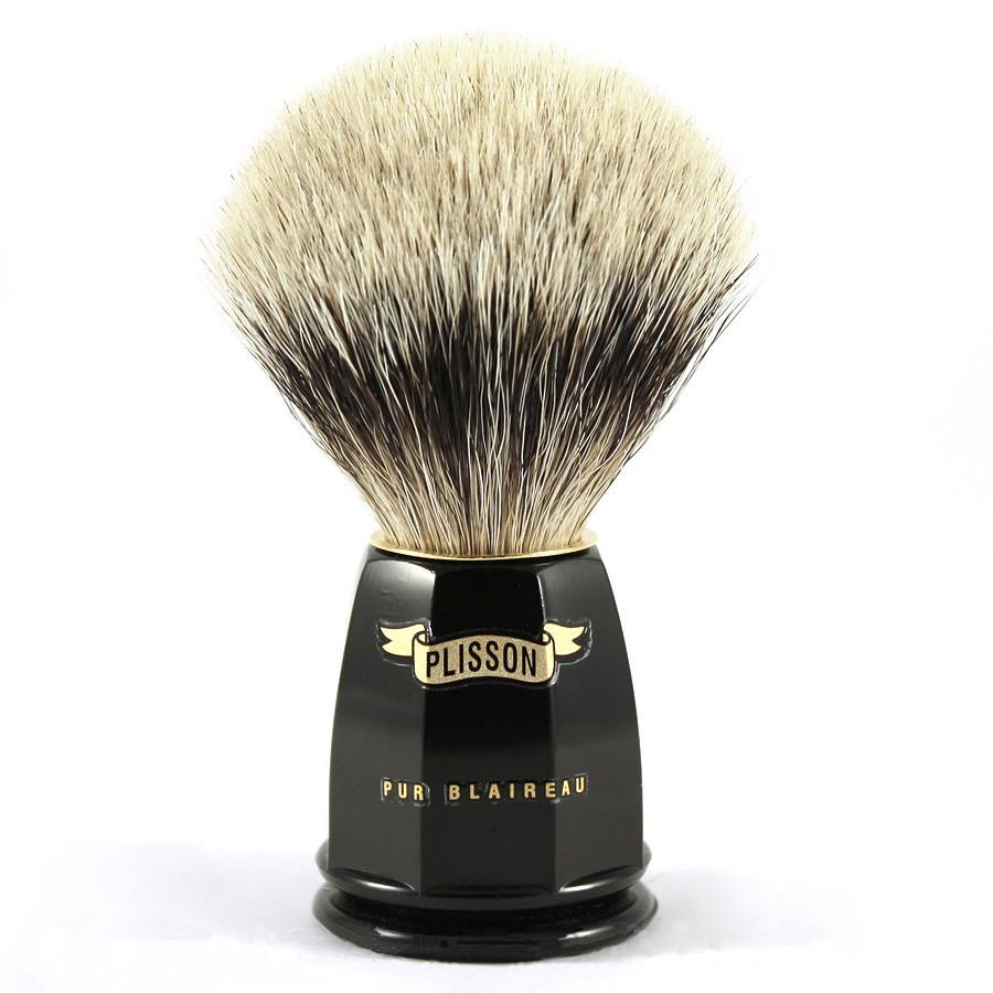 Plisson European White Badger Shaving Brush, Size 10 - Fendrihan Canada