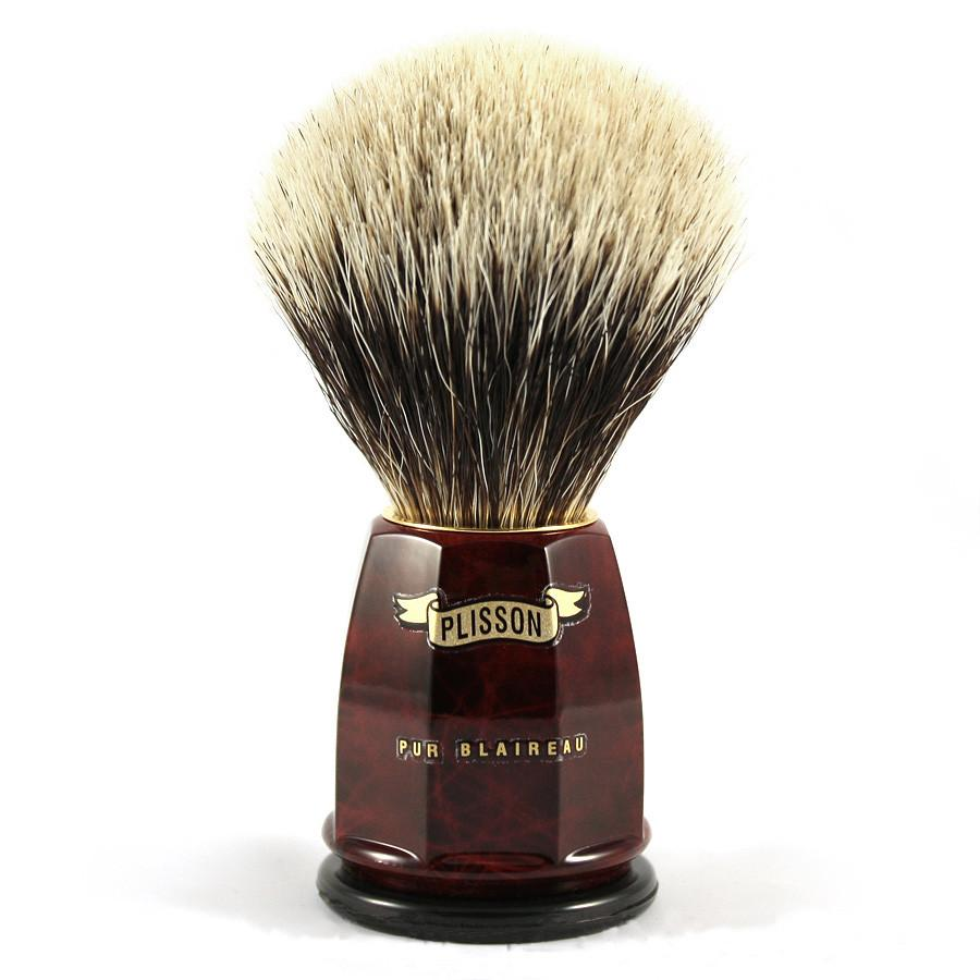 Plisson European White Badger Shaving Brush, Size 12 Badger Bristles Shaving Brush Plisson - Joris