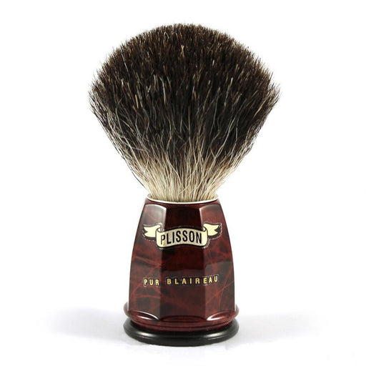 Plisson Pure Black Badger Shaving Brush, Size 12 - Fendrihan Canada