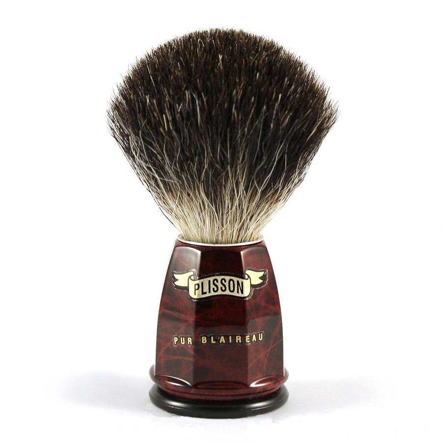 Plisson Pure Black Badger Shaving Brush, Size 12 Badger Bristles Shaving Brush Plisson - Joris