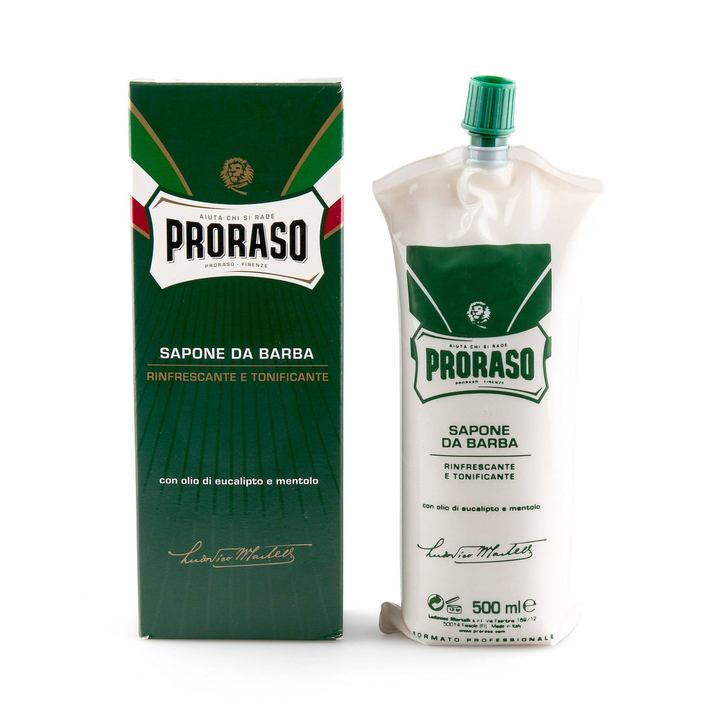Proraso Green Shaving Cream with Eucalyptus and Menthol, Barbershop Size 500 ml Shaving Cream Proraso
