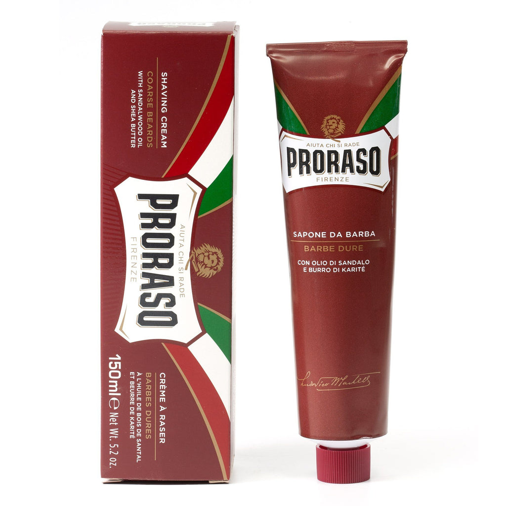 Proraso Red Shaving Cream for Coarse Beard with Sandalwood and Shea Butter Shaving Cream Proraso