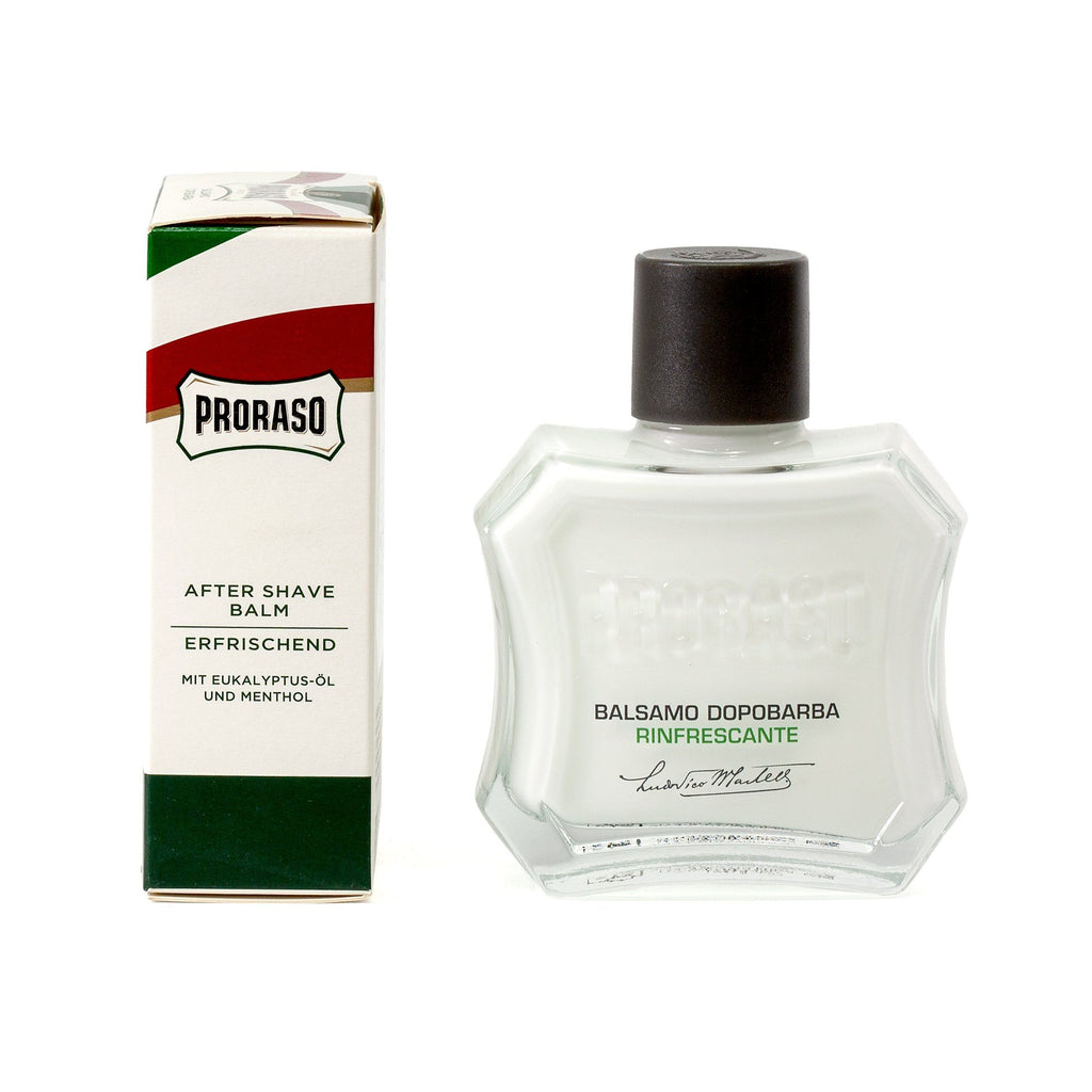 Proraso Green Liquid Cream After Shave Balm with Eucalyptus and Mint Aftershave Balm Proraso