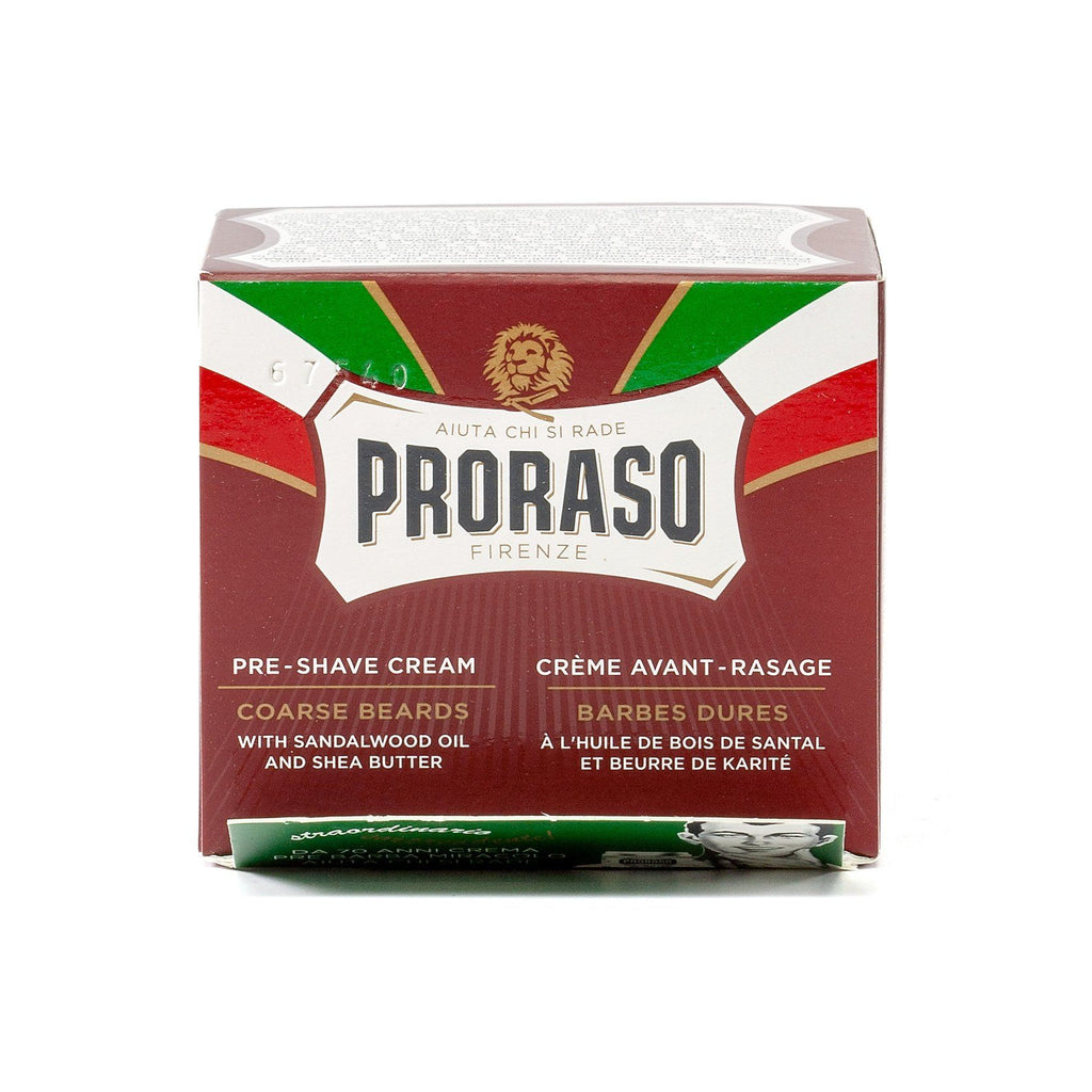 Proraso Red Pre-Post Shave Cream for Coarse Beard with Sandalwood and Shea Butter Pre Shave Proraso