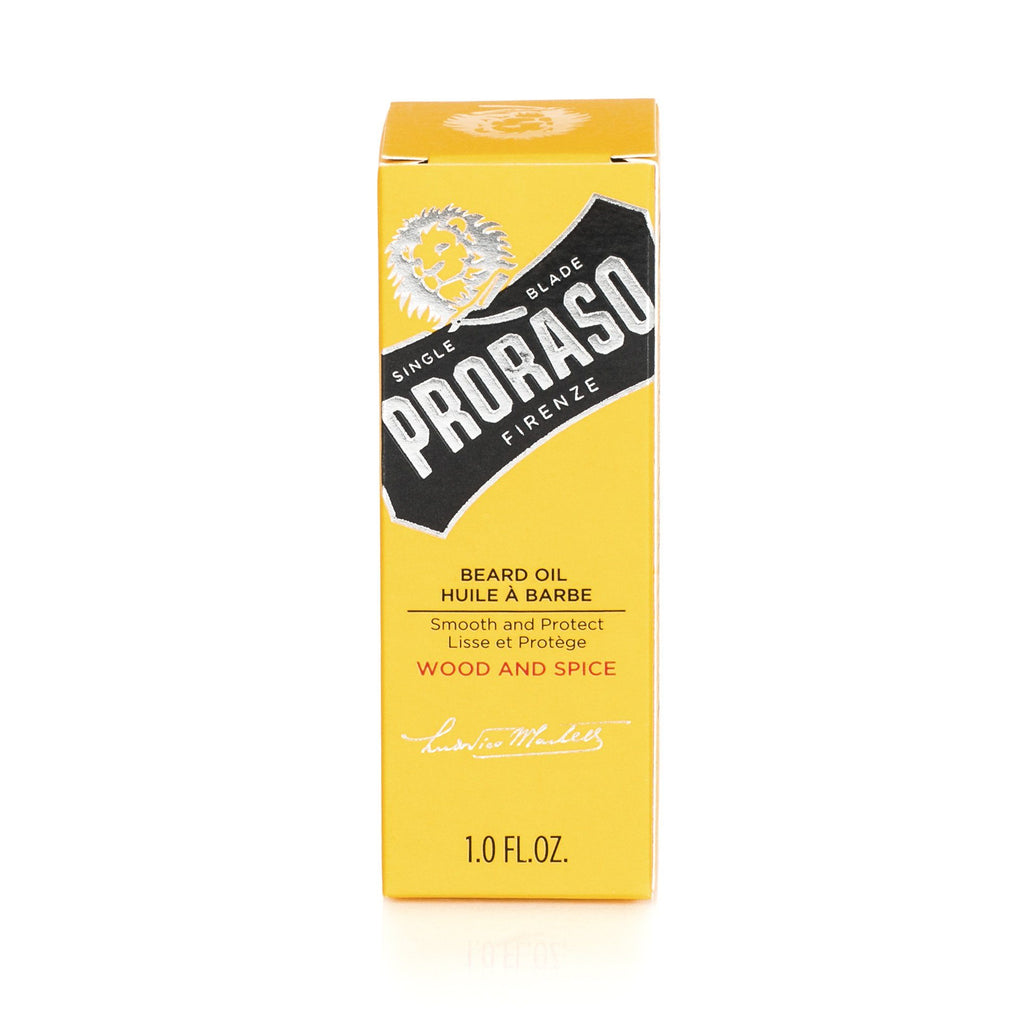 Proraso Beard Oil, Wood and Spice Beard Balm Proraso