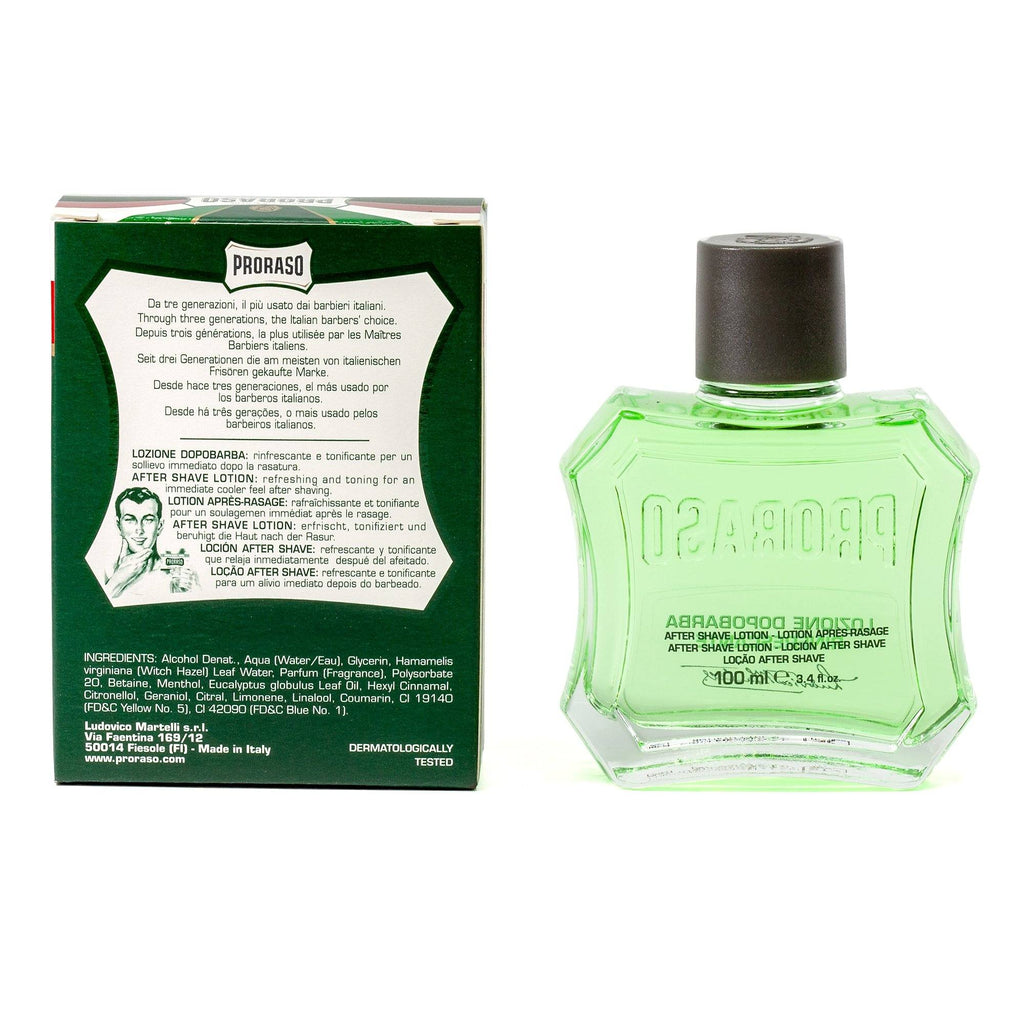 Proraso Green After Shave Lotion with Eucalyptus and Menthol Aftershave Proraso