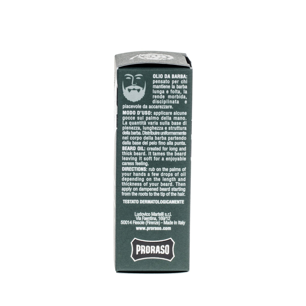 Proraso Beard Oil, Cypress & Vetyver Beard Oil Proraso