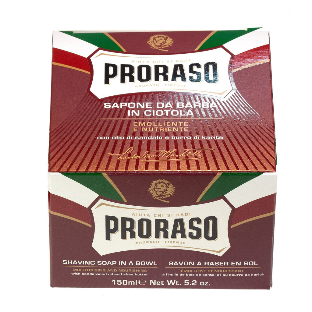 Proraso Red Shaving Soap for Coarse Beard with Sandalwood and Shea Butter - Fendrihan Canada - 2