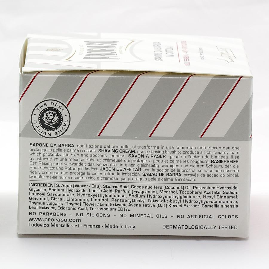 Proraso White Shaving Soap for Sensitive Skin with Green Tea and Oatmeal Shaving Soap Proraso