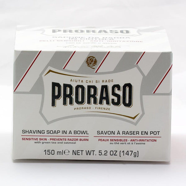 Proraso White Shaving Soap for Sensitive Skin with Green Tea and Oatmeal - Fendrihan Canada - 3