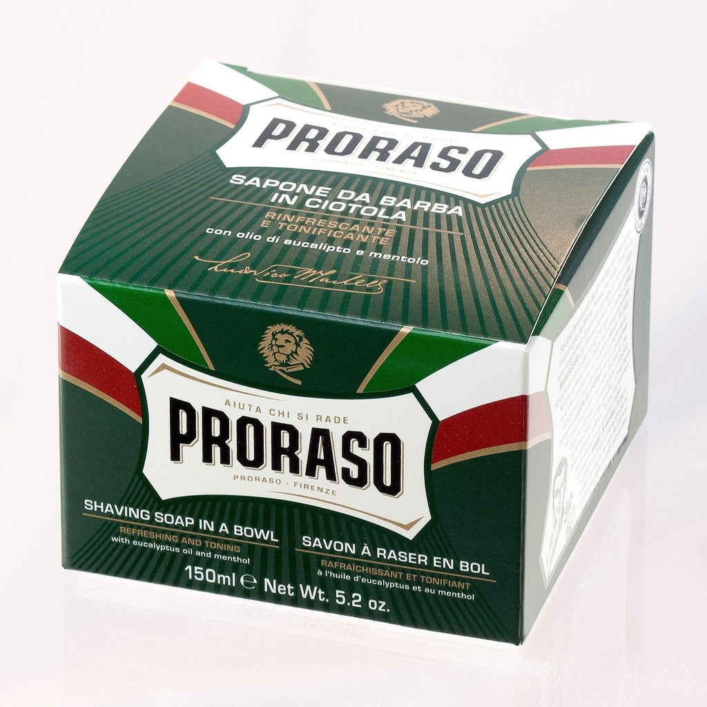 Proraso Green Shaving Soap with Eucalyptus and Menthol Shaving Soap Proraso