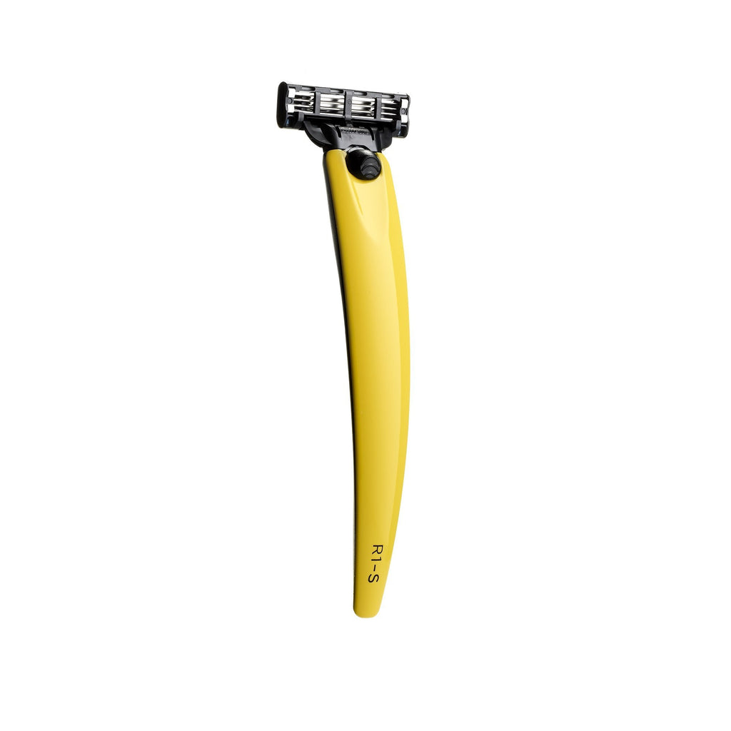Bolin Webb R1-S Razor Handle for Mach3, Ferrara Yellow Cartridge Type Safety Razor Bolin Webb