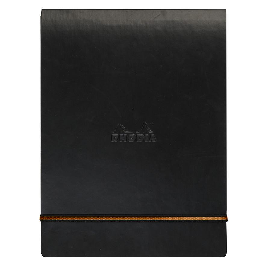 Rhodia A5 WebPocket Leatherette Cover with Elastic Closure, Black Notebook Rhodia