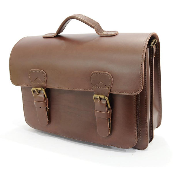 Ruitertassen Classic 2140 Leather Briefcase, Dark Brown - Fendrihan Canada - 1