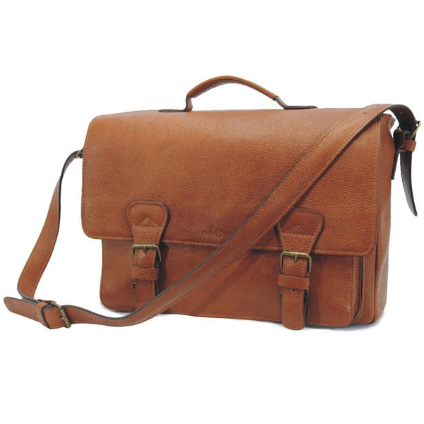 Ruitertassen Soft 4030 Leather Briefcase, Brown - Fendrihan Canada - 1