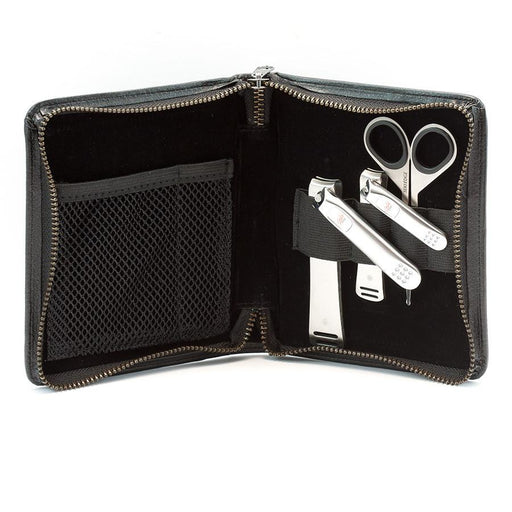 Seki Edge 3-Piece Stainless Steel Men's Premium Grooming Kit, Black Zip Case - Fendrihan Canada - 1