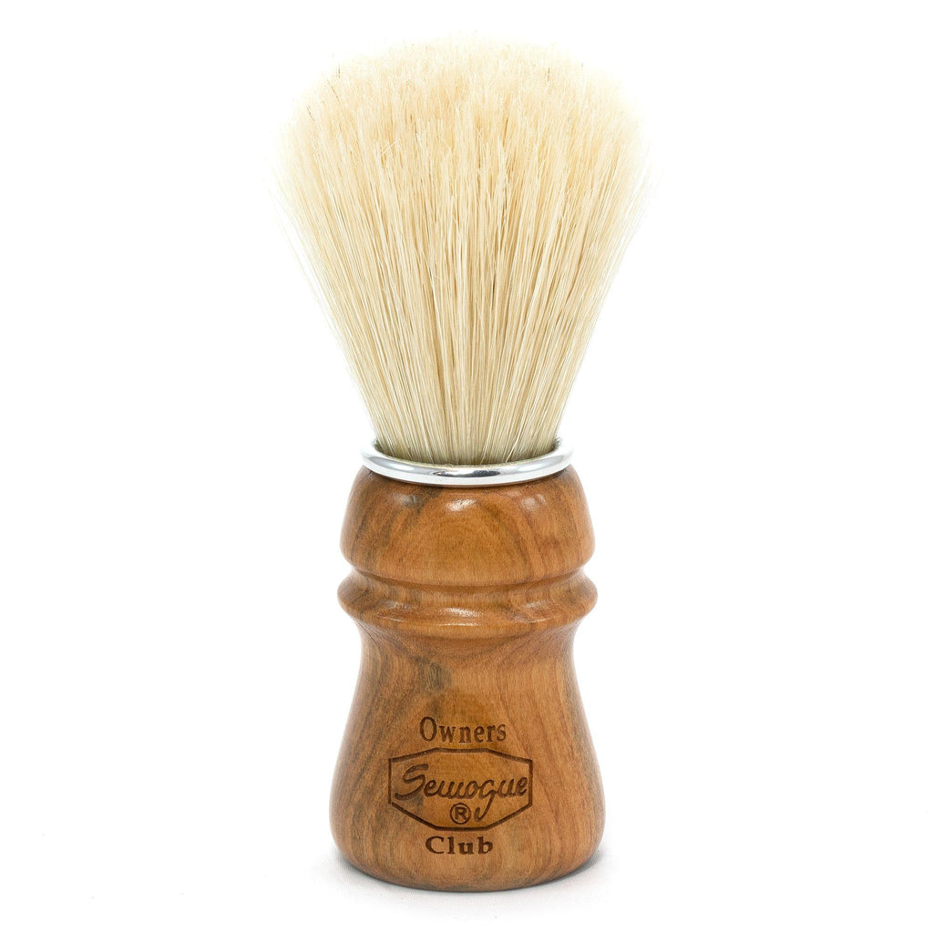 Semogue Owners Club Pure Bristle Shaving Brush, Cherry Wood Boar Bristles Shaving Brush Semogue