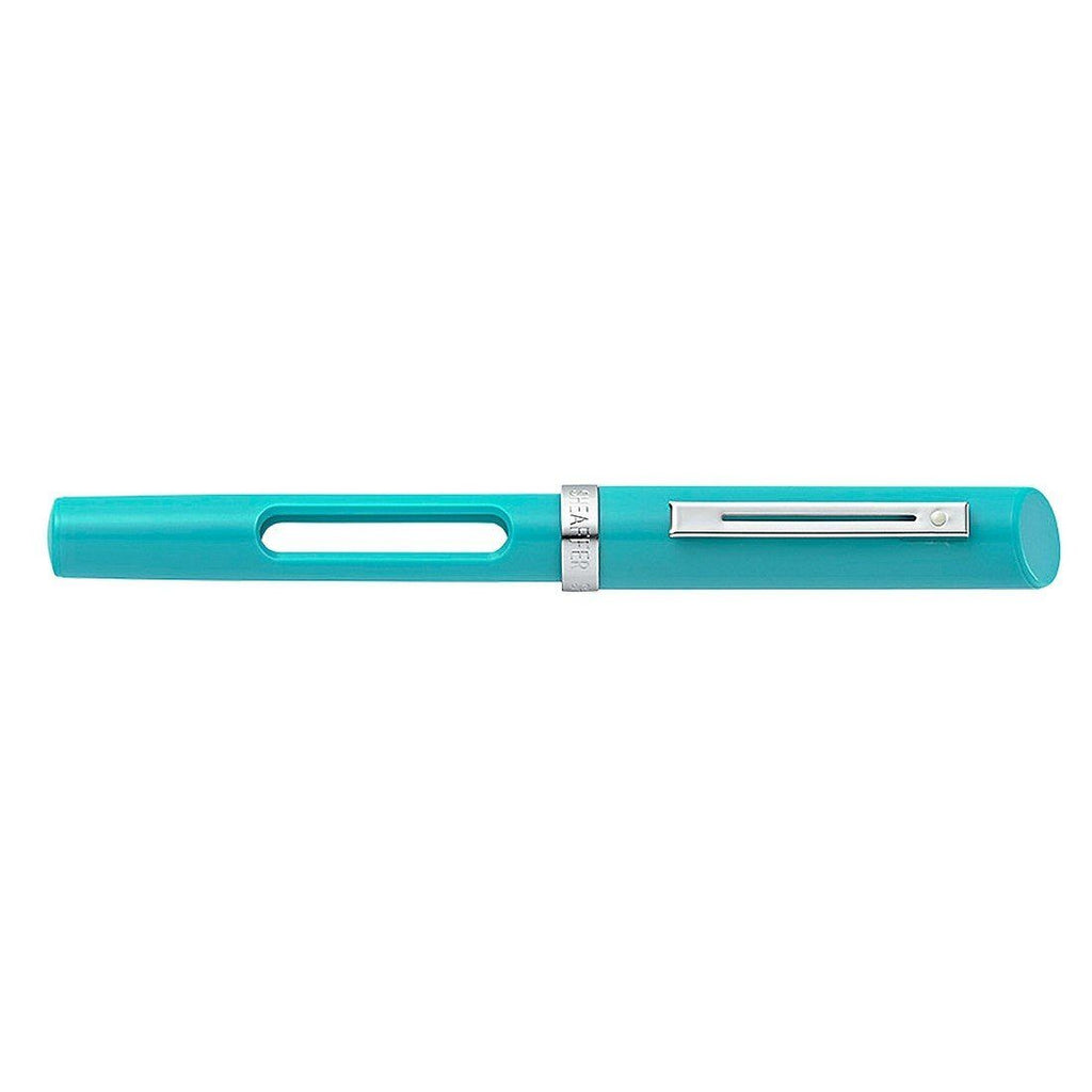 Sheaffer Calligraphy Medium Nib Fountain Pen, Teal with Nickel Plate Trim Fountain Pen Sheaffer