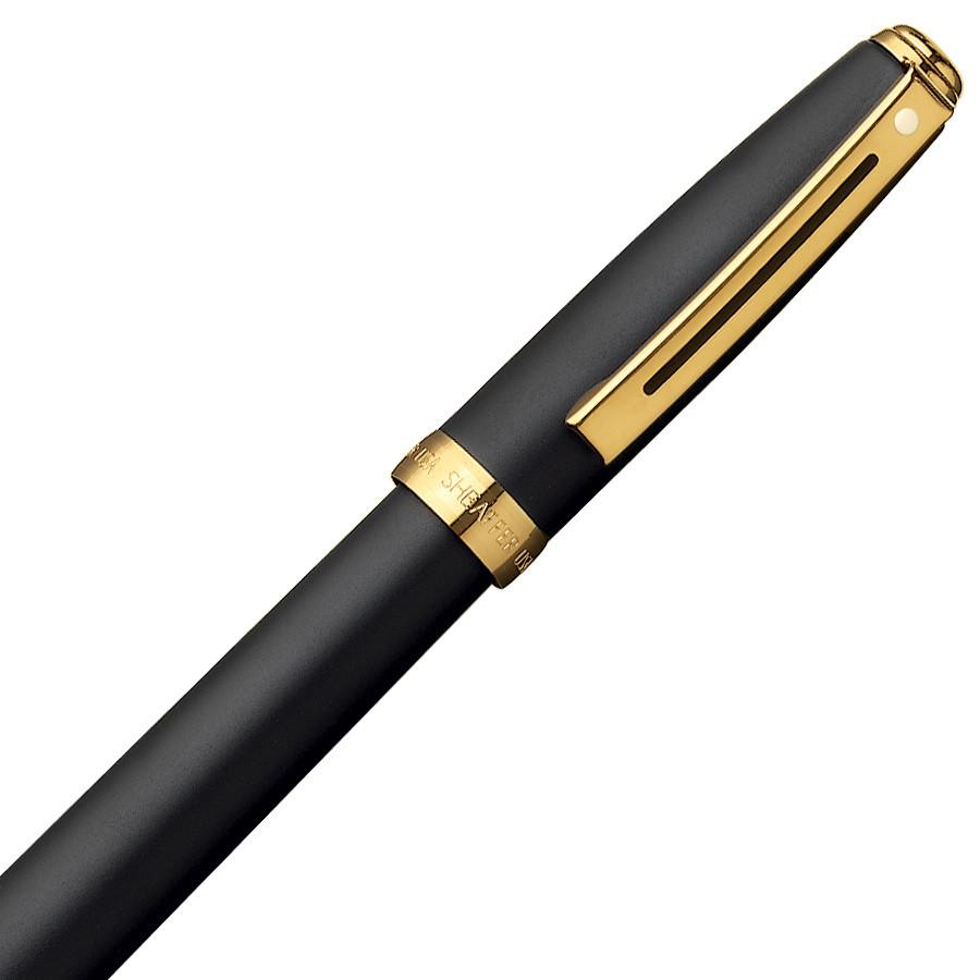 Sheaffer Prelude Fountain Pen, Black Matte with 22K Gold Plate Trim Fountain Pen Sheaffer
