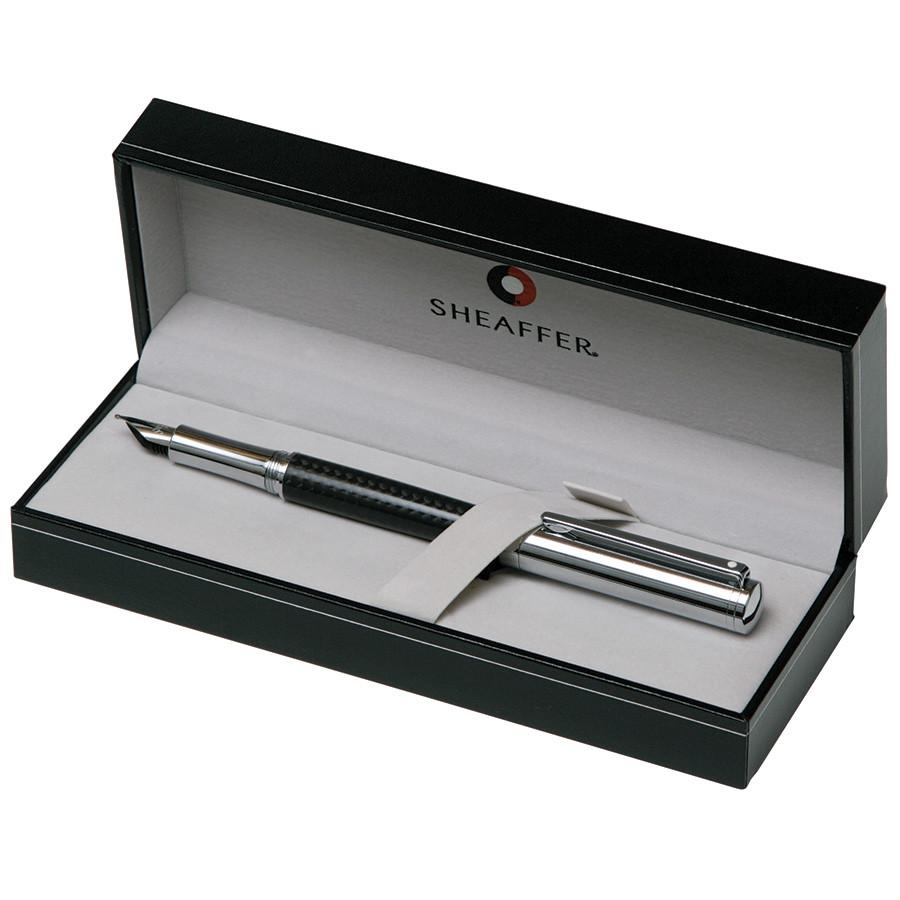 Sheaffer Intensity Fountain Pen, Carbon Fiber Barrel with Bright Chrome Cap and Trim, Medium Nib Fountain Pen Sheaffer