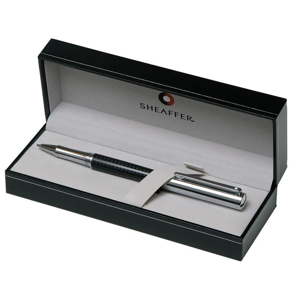 Sheaffer Intensity Rollerball Pen, Carbon Fiber Barrel with Bright Chrome Cap and Chrome Plate Trim - Fendrihan Canada - 2
