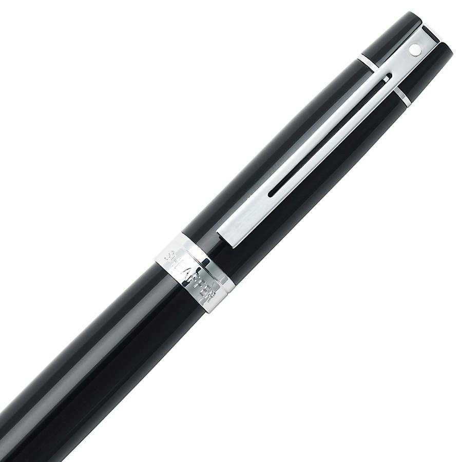 Sheaffer 300 Fountain Pen, Glossy Black with Chrome Plate Trim Fountain Pen Sheaffer