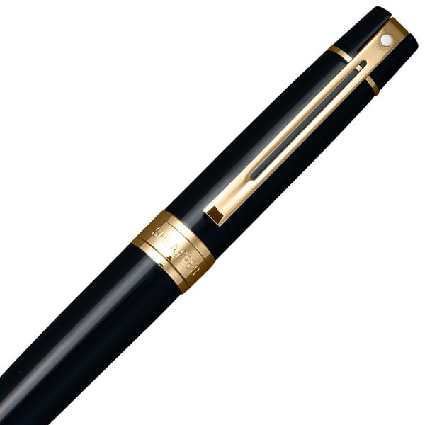 Sheaffer 300 Ballpoint Pen, Glossy Black with Gold Tone Trim - Fendrihan Canada - 2