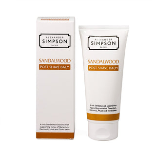 Alexander Simpson Post Shave Balm, Sandalwood Aftershave Balm Simpsons
