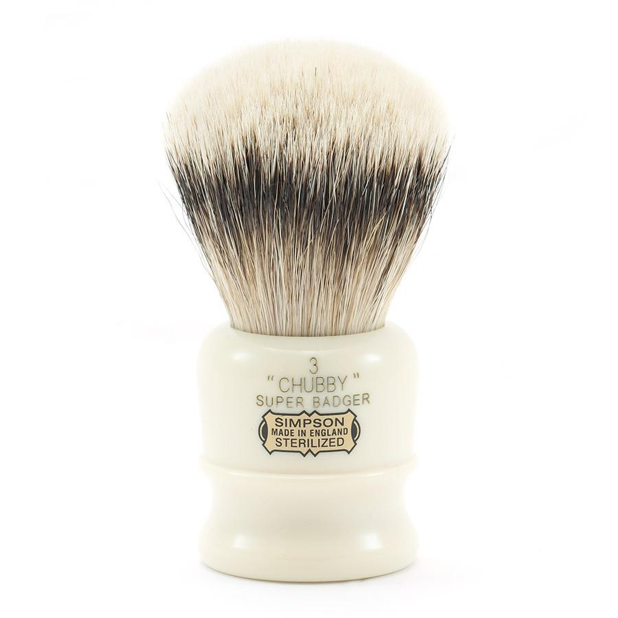 Simpsons Chubby 3 Super Badger Shaving Brush Badger Bristles Shaving Brush Simpsons