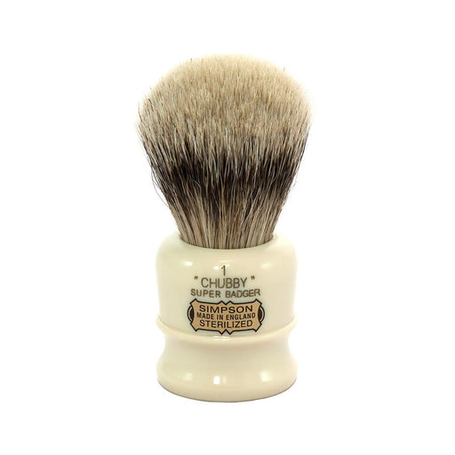 Simpsons Chubby 1 Super Badger Shaving Brush - Fendrihan Canada - 1