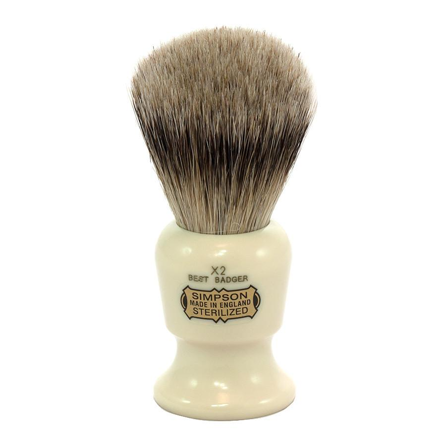 Simpsons The Commodore X2 Best Badger Shaving Brush - Fendrihan Canada - 1