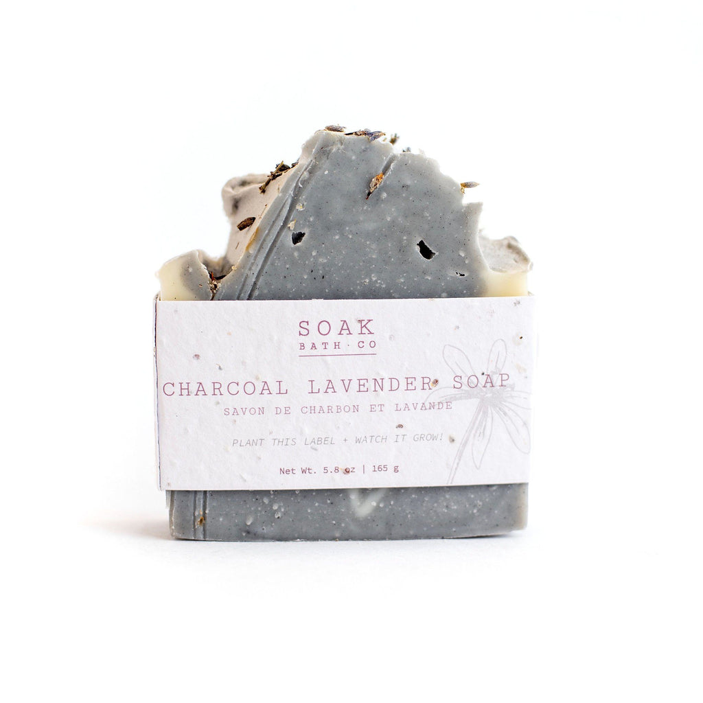 SOAK Bath Co. Soap Bar Body Soap SOAK Bath Co Charcoal Lavender