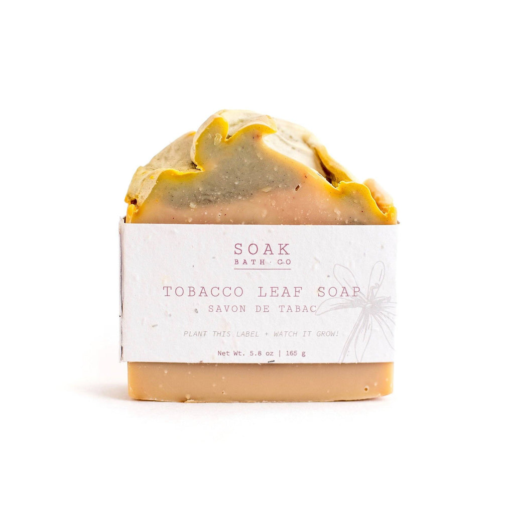SOAK Bath Co. Soap Bar Body Soap SOAK Bath Co Tobacco Leaf