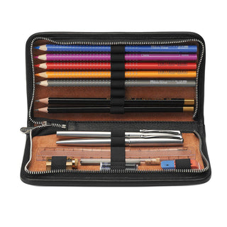 "Sonnenleder ""Novalis"" Vegetable Tanned Leather Pen and Pencil Case Pen Case Sonnenleder"