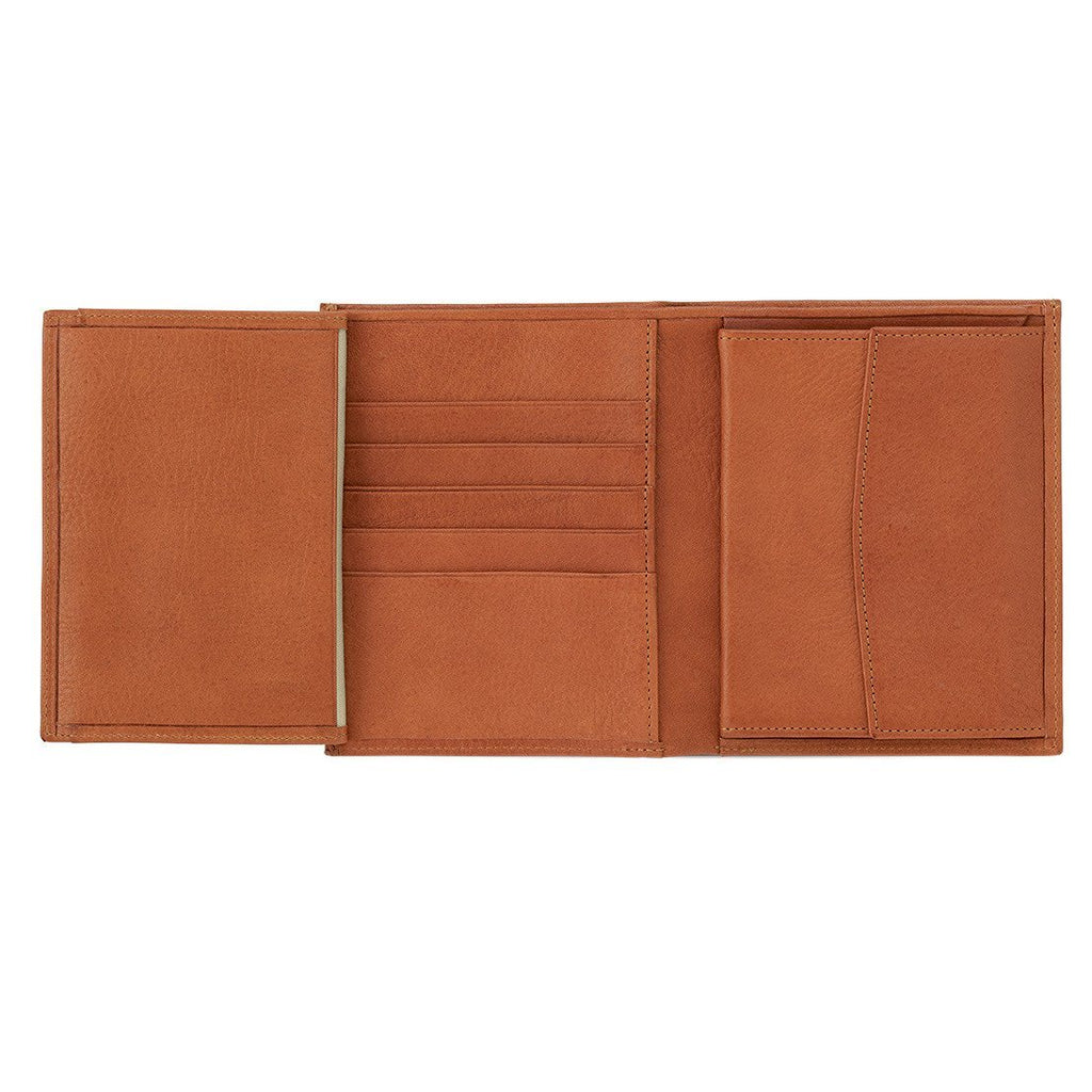 "Sonnenleder ""Donau"" Vegetable Tanned Leather Dual Purpose Wallet Leather Wallet Sonnenleder Natural"