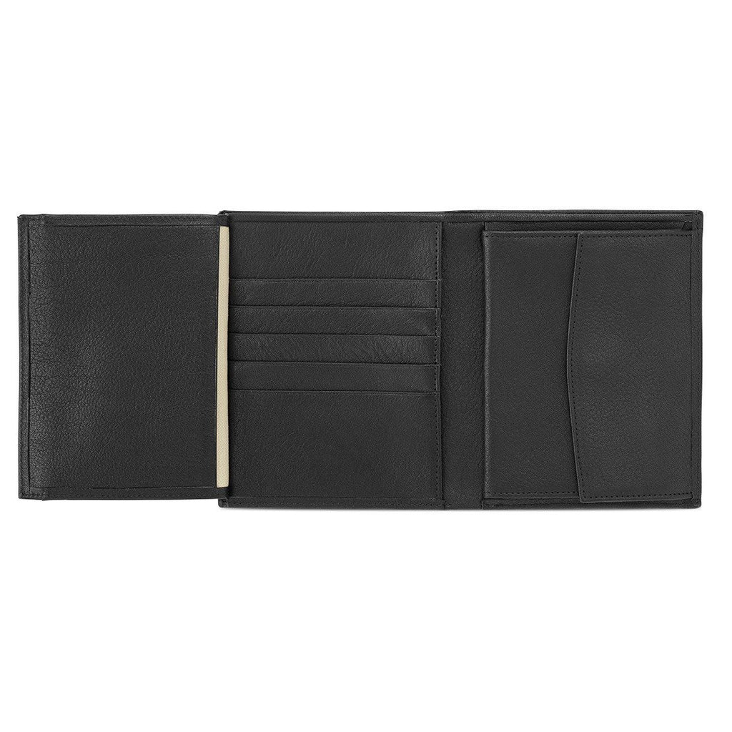 "Sonnenleder ""Donau"" Vegetable Tanned Leather Dual Purpose Wallet Leather Wallet Sonnenleder Black"