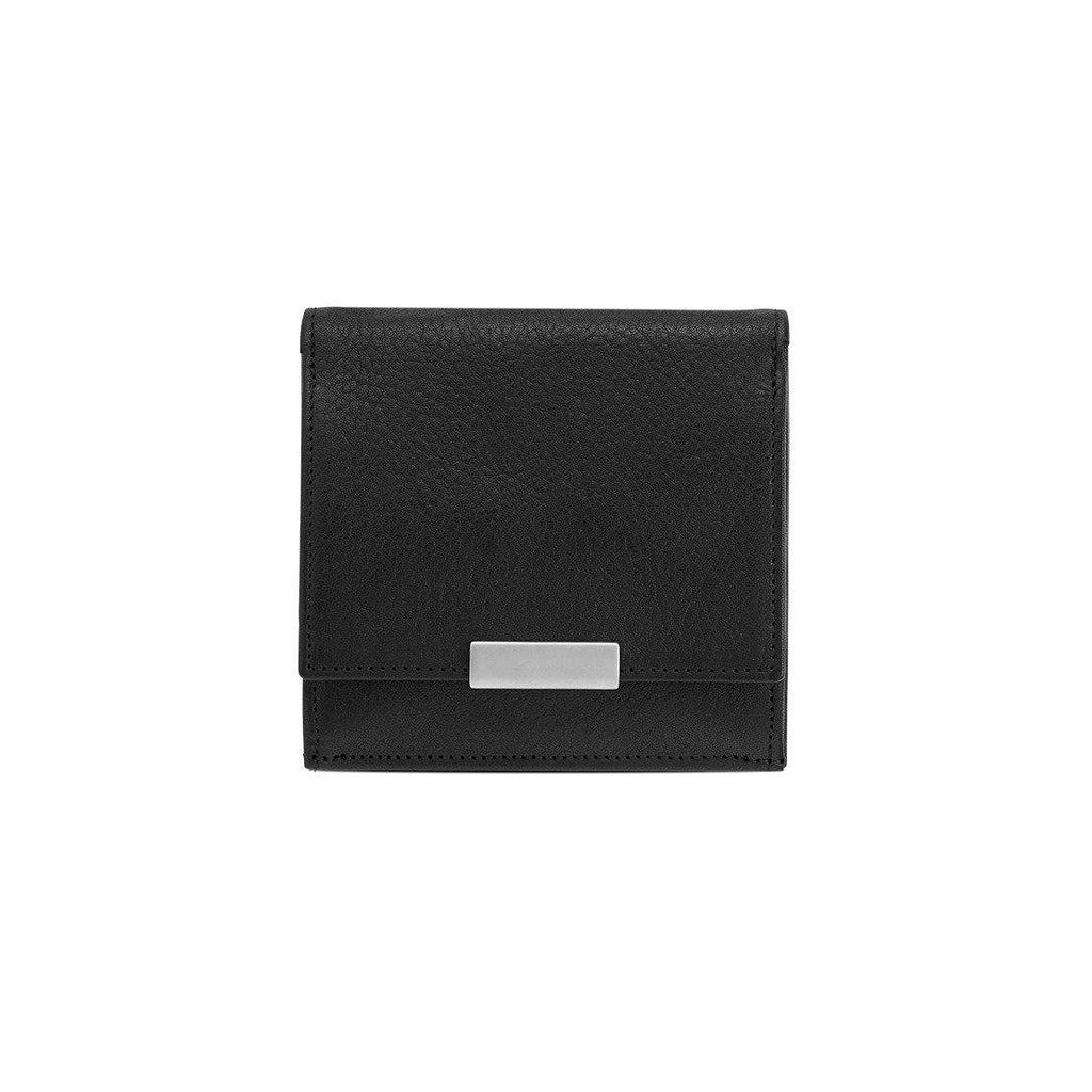 "Sonnenleder ""Wienfluss K"" Vegetable Tanned Leather Wallet with Coin Purse, Black Leather Wallet Sonnenleder"