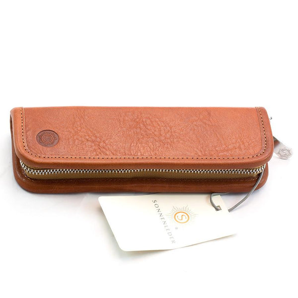 "Sonnenleder ""Grass"" Pen and Pencil Leather Case, Natural - Fendrihan Canada - 2"