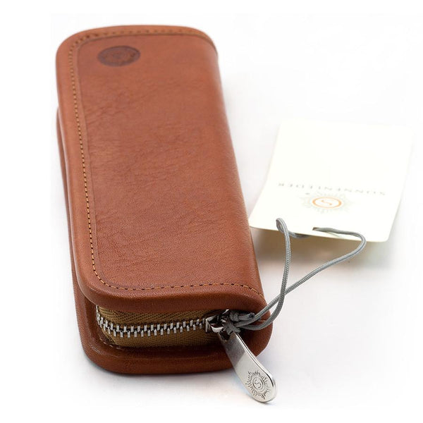 "Sonnenleder ""Grass"" Pen and Pencil Leather Case, Natural - Fendrihan Canada - 3"