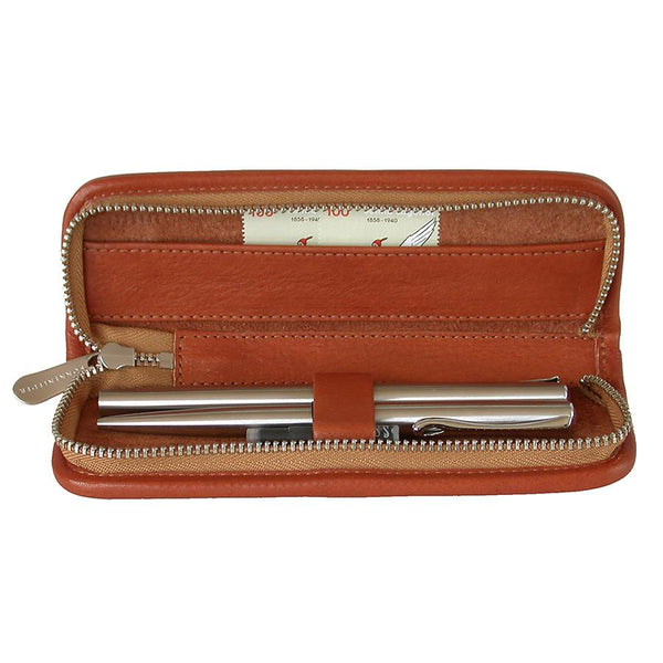 "Sonnenleder ""Grass"" Pen and Pencil Leather Case, Natural - Fendrihan Canada - 1"