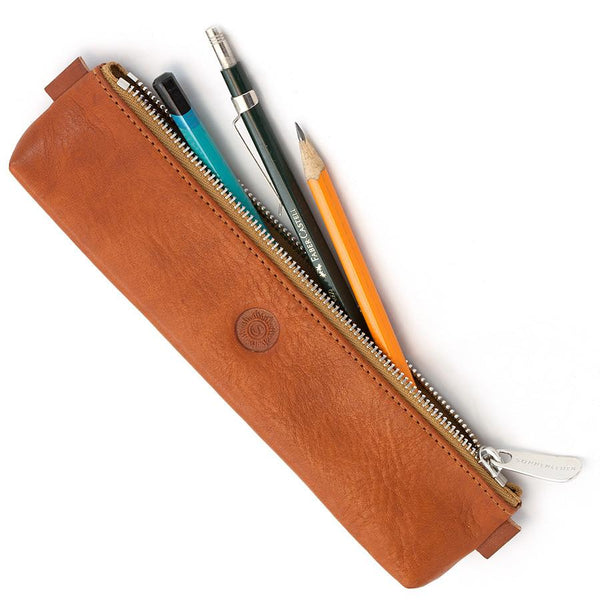 "Sonnenleder ""Simmel"" Pencil Leather Pouch, Natural - Fendrihan Canada - 2"