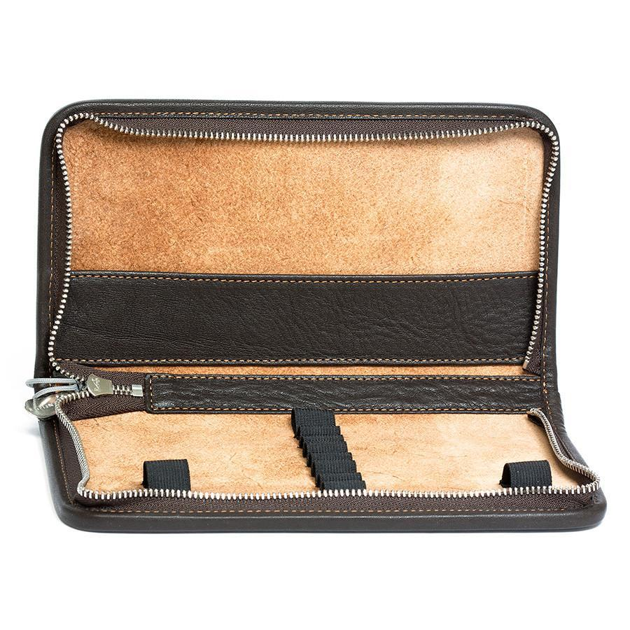 "Sonnenleder ""Nietzsche"" Pen and Pencil Leather Case Pen Case Sonnenleder Brown"