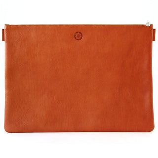 "Sonnenleder ""Rilke"" Vegetable Tanned XL Leather Document Pouch, Natural Leather Document Pouch Sonnenleder"