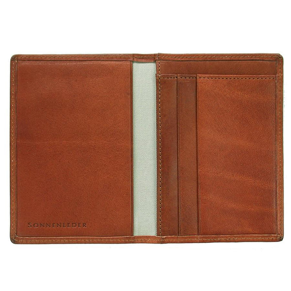 "Sonnenleder ""Inn"" Vegetable Tanned Leather Card Case, Natural - Fendrihan Canada - 1"