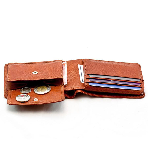 "Sonnenleder ""Lech"" Vegetable Tanned Leather Wallet with 8 CC Slots and Coin Pocket, Natural - Fendrihan Canada - 3"