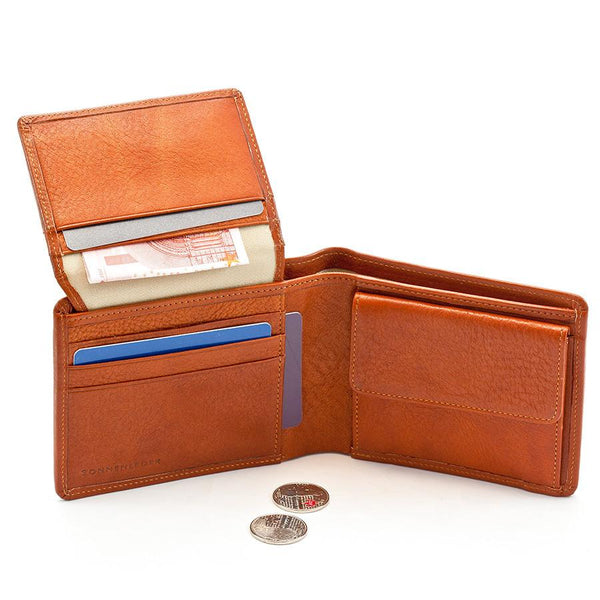 "Sonnenleder ""Lech"" Vegetable Tanned Leather Wallet with 8 CC Slots and Coin Pocket, Natural - Fendrihan Canada - 4"