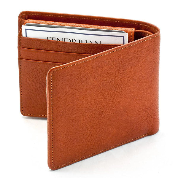 "Sonnenleder ""Lech"" Vegetable Tanned Leather Wallet with 8 CC Slots and Coin Pocket, Natural - Fendrihan Canada - 5"